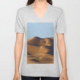 Sand Dunes Sahara Desert Landscape 16 Unisex V-Neck
