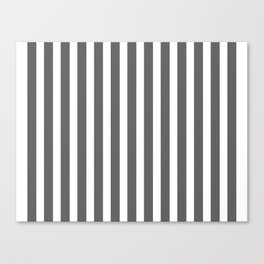 bold dark grey bars pattern Canvas Print
