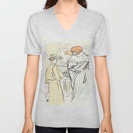 """Henri de Toulouse-Lautrec """"Alors vous êtes sages"""" Unisex V-Neck"""