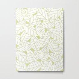 Leaves in Fern Metal Print