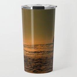 woman on the beach Travel Mug
