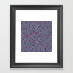 Ab Out Navy Red Framed Art Print