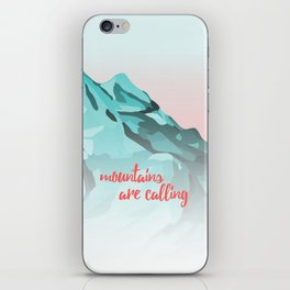 Mountains Are Calling Typography Design iPhone Skin