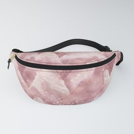 Abstract Rosegold Blush Glitter Mountain Dreamscape Fanny Pack