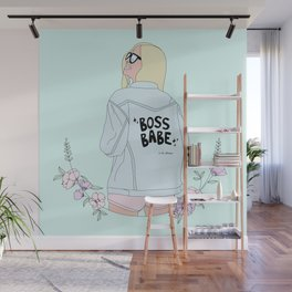 The Boss Babe Wall Mural