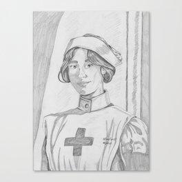 Nurse pencil sketch Canvas Print