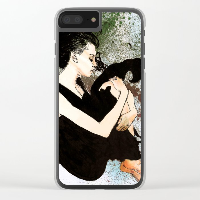 J Anne III Revisited Clear iPhone Case