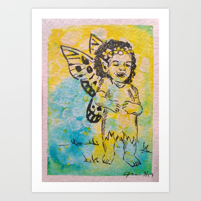 Sheer Delight ( Laughing Fairy ) Art Print