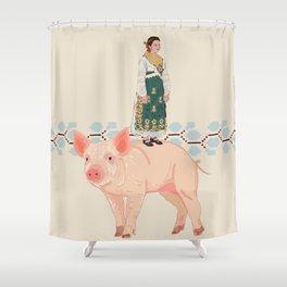 Traditional woman- Slavonija Shower Curtain