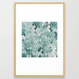 Mermaid Glitter Scales #3 #shiny #decor #art #society6 Framed Art Print