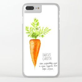Carrot Illustration Clear iPhone Case