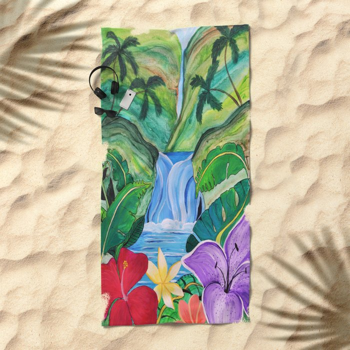 Tropical Escape Beach Towel