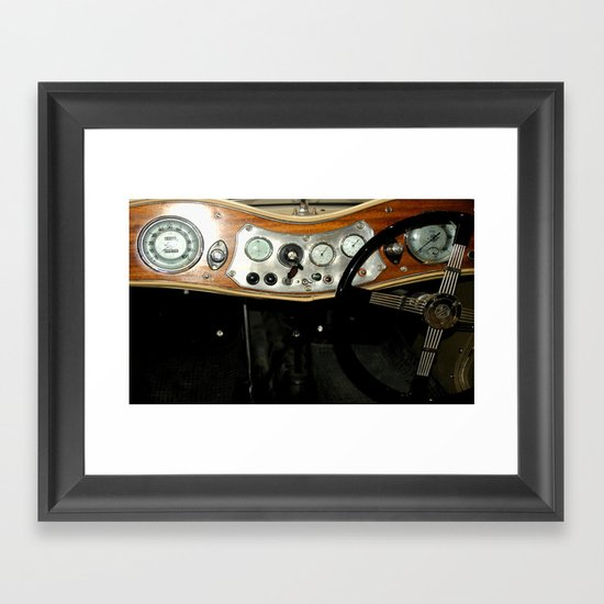 "1948 MG ""TC"" Sports Car Dashboard Framed Art Print"