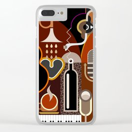 Abstract Music Background Clear iPhone Case