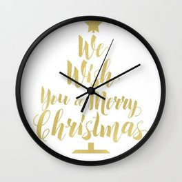 We Wish You a Merry Christmas Wall Clock