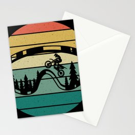 Retro Drive Motorcycle Rider Motocross Stationery Cards