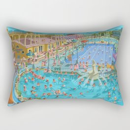 Szechenyi bath Budpest Rectangular Pillow