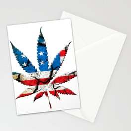Marijuana leaf Stationery Cards