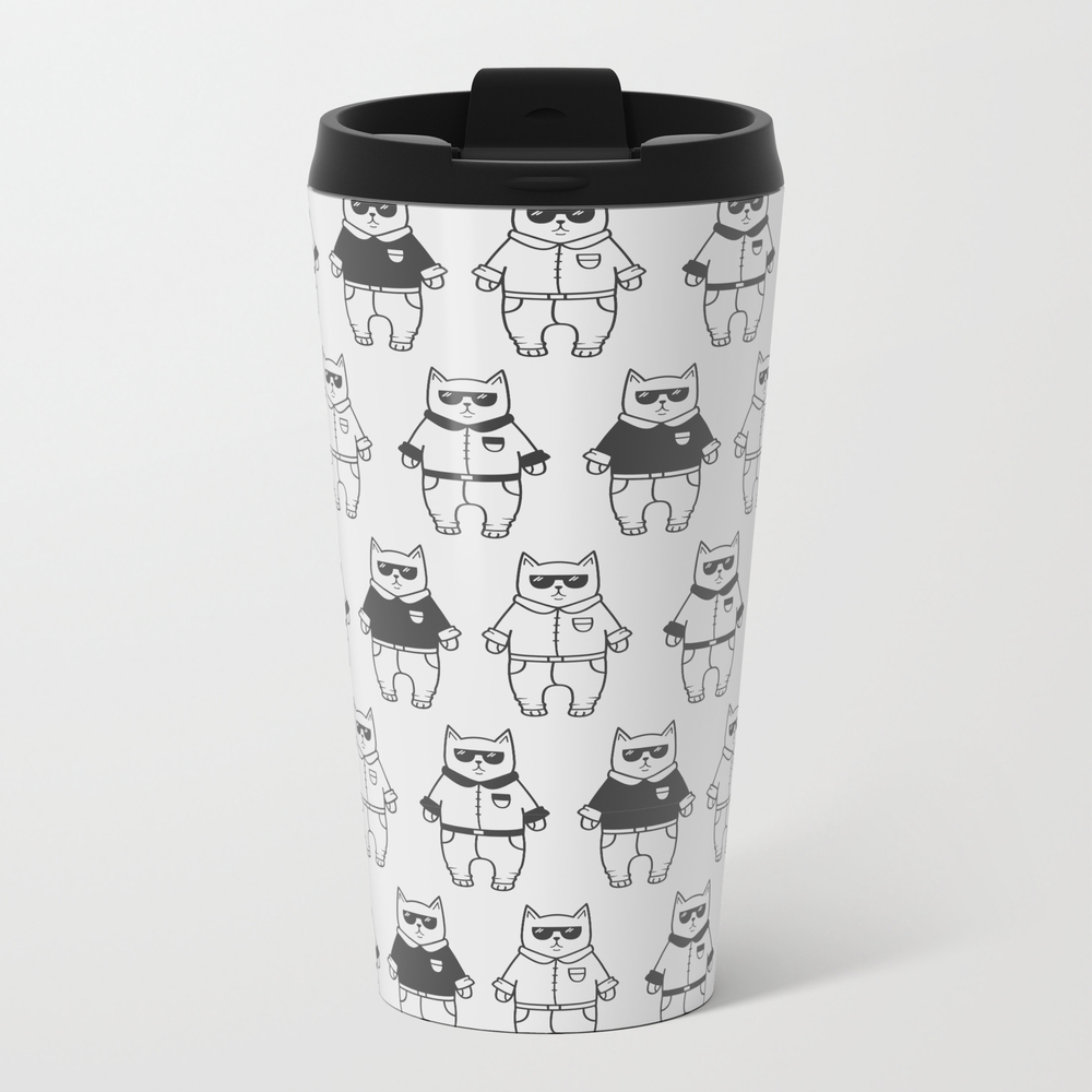 Cute Cartoon Cats Pattern Travel Cup TRM7791159
