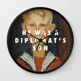 Blue-eyed Diplomat Wall Clock