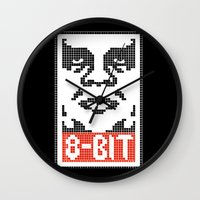 8 bit Wall Clocks featuring 8-Bit by tshirtsz