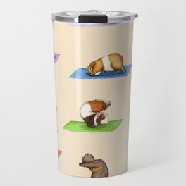 The Yoguineas - Yoga Guinea Pigs - Namast-hay! Travel Mug