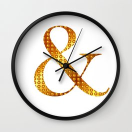 """Golden """"&"""" letter - White Wall Clock"""