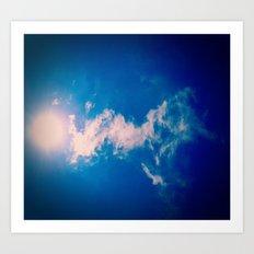 When the sun meets the cloud Art Print
