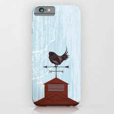 Illustration - Rooster Weather Vane On Textured Sky iPhone 6s Slim Case