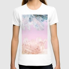 Serenity and Rose Quartz Crystals T-shirt