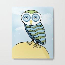 AL the Owl Metal Print