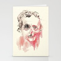 edgar allen poe Stationery Cards featuring Poe by Elena López Macías