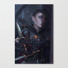 Kithree Graygrain, halfling assassin Canvas Print