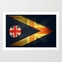 british Art Prints featuring British by ilustrarte