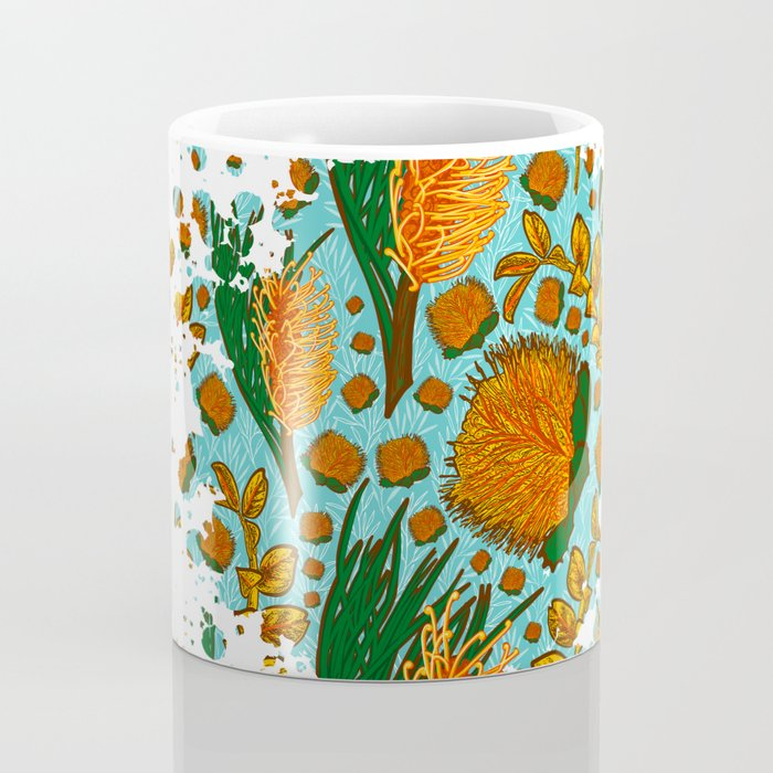 Australian Native Floral Graphic Print Coffee Mug