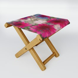 flowers abstract Folding Stool