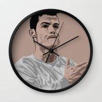 ronaldo Wall Clocks featuring Cristiano Ronaldo by siddick49