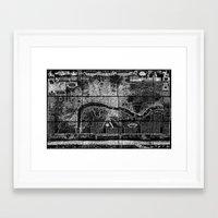 london map Framed Art Prints featuring London Map by Le petit Archiviste