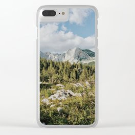 Afternoon in the mountains Clear iPhone Case