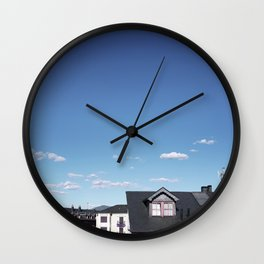 Candy rooftops Wall Clock