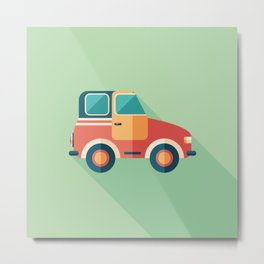 Toy Retro Car Metal Print