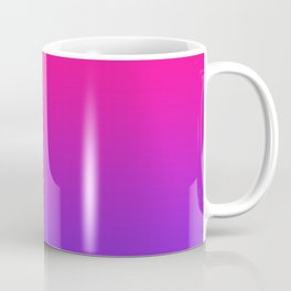 Plastic Pink Proton Purple Ombre Gradient Neon Pink Ultra Violet Pattern Coffee Mug
