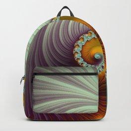 Winter Sunset - Fractal Art  Backpack