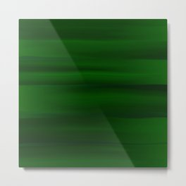 Emerald Green and Black Abstract Metal Print