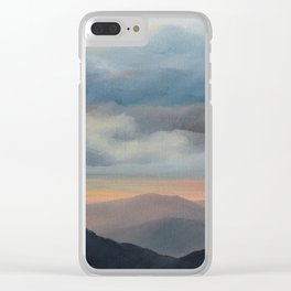 Sunset on the Blue Ridge Parkway Clear iPhone Case