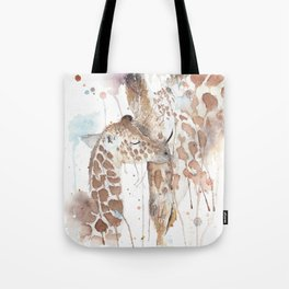 """Watercolor Painting of Picture """"Mother and Son"""" Tote Bag"""