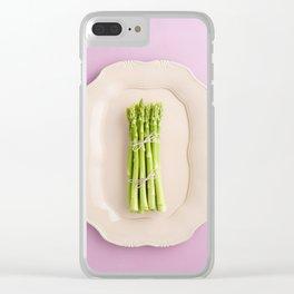 Fresh green asparagus Clear iPhone Case