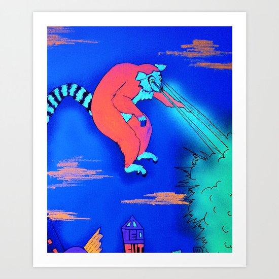 Leapin' Lemur! Art Print