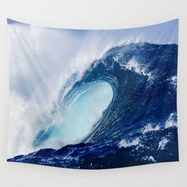 Big Blue Wave Wall Tapestry