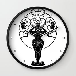 Indian Priestess Wall Clock